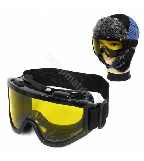 Gogle Narciarskie Snowboard Żółte