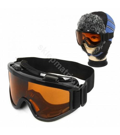 Gogle Narciarskie Snowboard Pomarańczowe